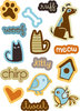 "ki Memories ""Playful Pets Icons"" Pop Art Sticker Accents"
