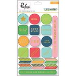 Pinkfresh Studio - Life Noted: Gold Foiled Chipboard Stickers (20 St.)