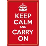 Nostalgic Art - Blechpostkarte: Keep calm and carry on