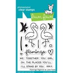 Lawn Fawn - Clear Stamps: Flamingo Together