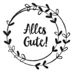 Cats on Appletrees - Holzstempel: Alles Gute Blütenkranz
