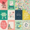 "Echo Park - Just Be You: 3x4 Journaling Cards Paper 12""x12"""