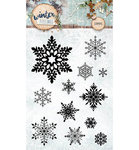 Studio Light - Clear Stamps: Winter Feelings Nr. 235 Snowflakes