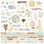 "Simple Stories - Oh Baby: Combo Cardstock Stickers 12""x12"""