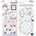 Pinkfresh Studio - Indigo Hills 2: Chipboard Stickers (36 St.)