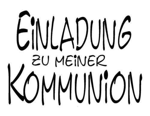 Stempel: Einladung Zu Meiner Kommunion