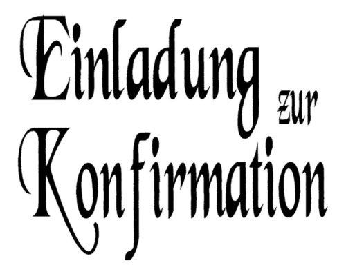 Stempel: Einladung Zur Konfirmation