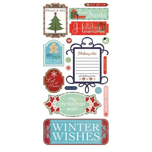 "Basic Grey - Nordic Holiday: Title Stickers 6""x12"""
