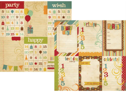 "Simple Stories - Happy Day: 4x6 Vertical Journaling Card Elements 12""x12"""