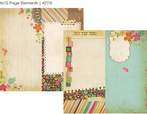 "Simple Stories - Fabulous: 6x12"" Page Elements 12""x12"""