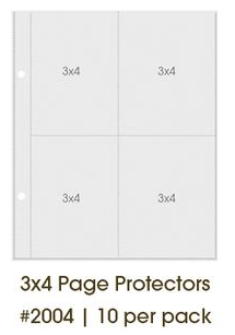 "Simple Stories - Sn@p!: Page Protectors - 3x4"" (10 St.)"