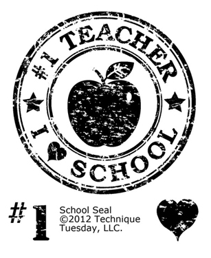 Technique Tuesday Clear Stamps: School Seal (VERGILBT)