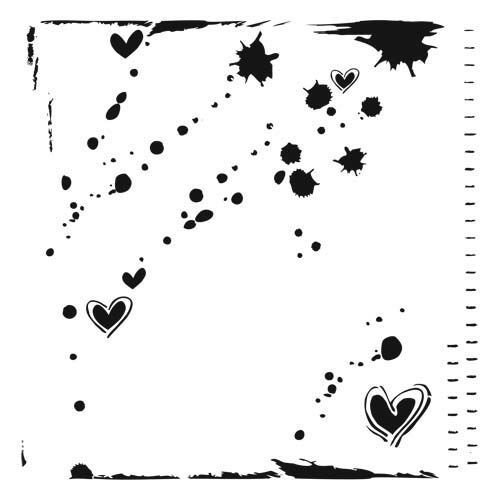"The Crafters Workshop - Stencil: Confetti 12""x12"""