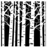 "The Crafters Workshop - Stencil: Aspen Trees 6""x6"""