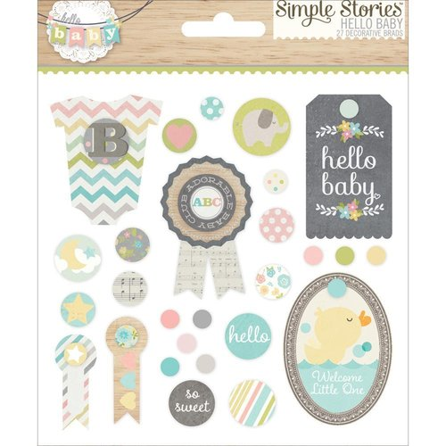 Simple Stories - Hello Baby: Decorative Brads