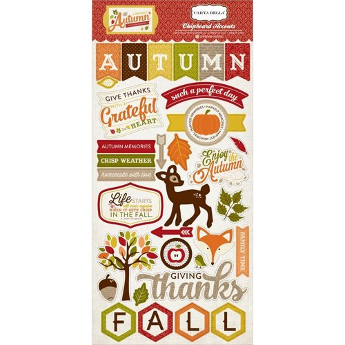 "Carta Bella - A Perfect Autumn: Chipboard Accents 6""x13"""