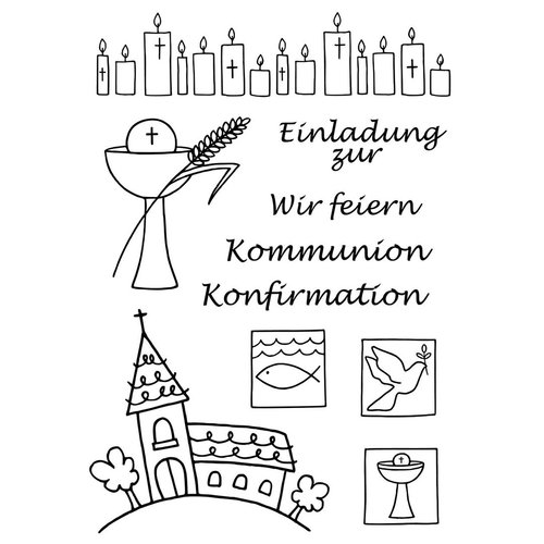 Efco - Clear Stamps: Kommunion / Konfirmation