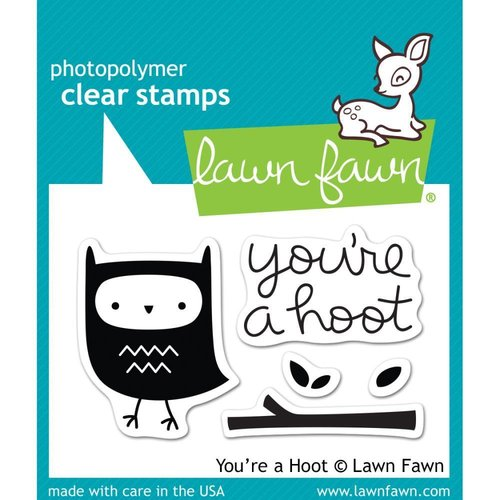 Lawn Fawn - Clear Stamps: You're a hoot