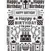 Darice Embossing Folder: Birthday Collage