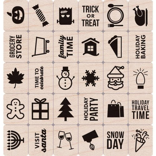 Hero Arts - Holzstempel: Kelly's Holiday Planner Icons