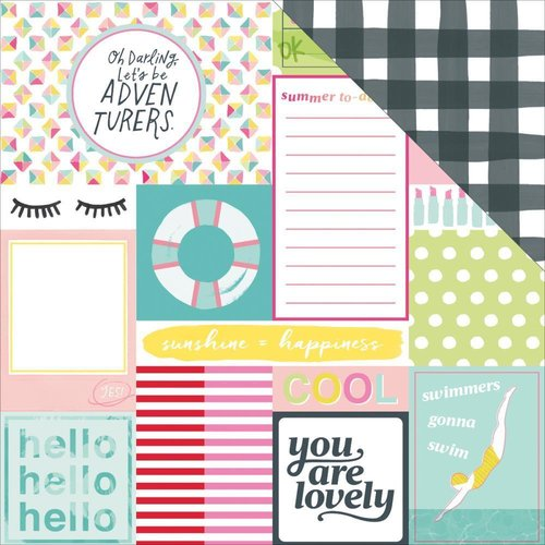 "Dear Lizzy - Happy Place: Top Notch Paper 12""x12"""