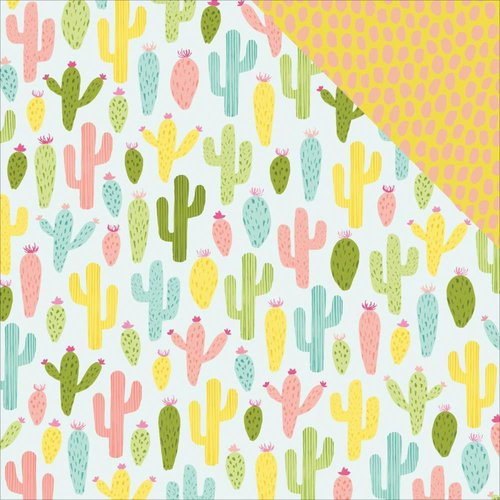 "Dear Lizzy - Happy Place: Cactus Cooler Paper 12""x12"""