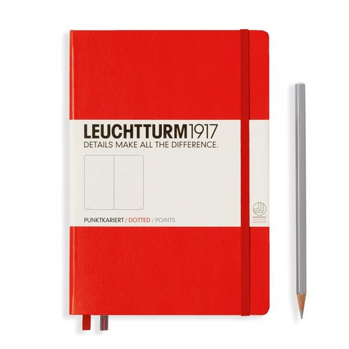Leuchtturm 1917 - Notizbuch Medium A5 Hardcover: Red / Rot, dotted