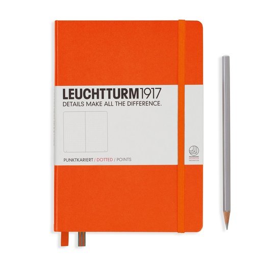 Leuchtturm 1917 - Notizbuch Medium A5 Hardcover: Orange, dotted