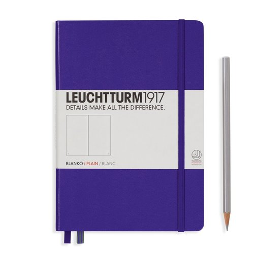 Leuchtturm 1917 - Notizbuch Medium A5 Hardcover: Purple / Violett, blanko