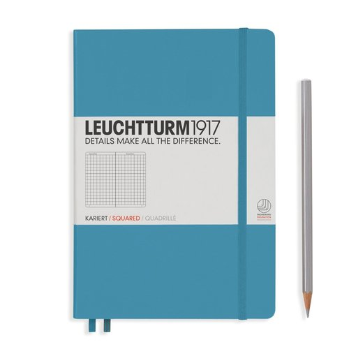Leuchtturm 1917 - Notizbuch Medium A5 Hardcover: Nordic Blue, kariert