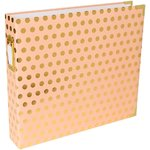 "Project Life - Printed D-Ring Album 12""X12"": Blush Edition - Gold Dots"