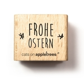 Cats on Appletrees - Holzstempel: Typostempel Frohe Ostern