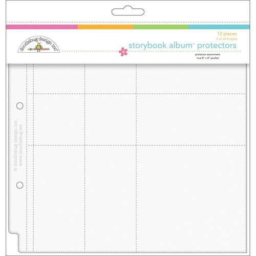"Doodlebug - Storybook: Page Protectors gemischt - 8x8"" (12 St.)"