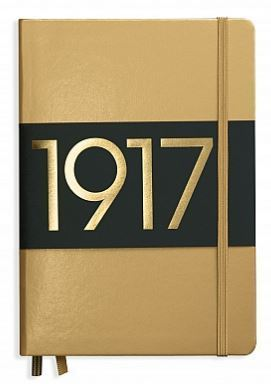Leuchtturm 1917 - Notizbuch Medium A5 Hardcover: Metallic Edition Gold, dotted