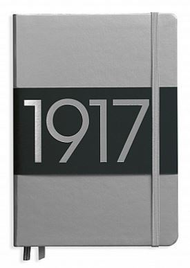 Leuchtturm 1917 - Notizbuch Medium A5 Hardcover: Metallic Edition Silver / Silber, dotted
