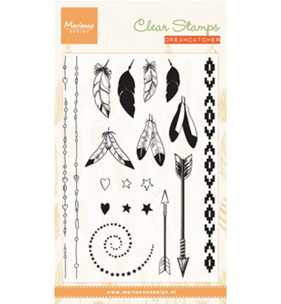 Marianne Design - Clear Stamps: Feathers