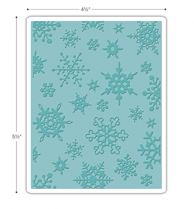"Tim Holtz Alterations - Sizzix Texture Fades: Embossing Folder ""Simple Snowflakes"""