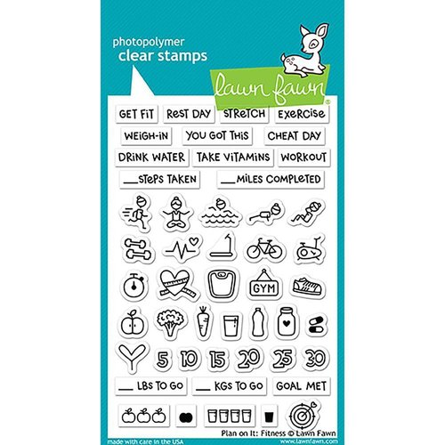 Lawn Fawn - Clear Stamps: Plan On It: Fitness