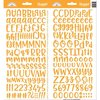 Doodlebug - Alphabet Stickers: Abigail, tangerine / orange