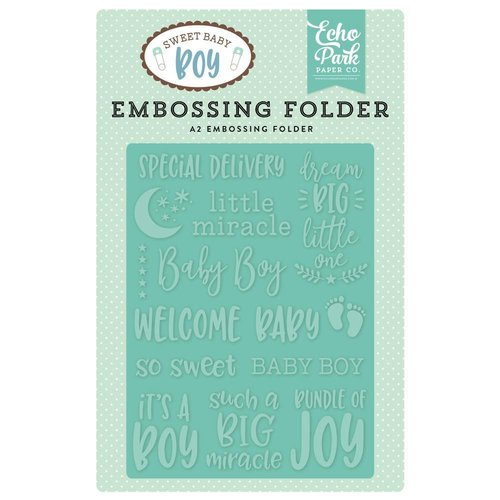 Echo Park - Sweet Baby Boy: Special Delivery Embossing Folder