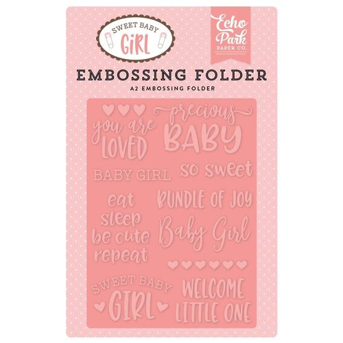 Echo Park - Sweet Baby Girl: Precious Baby Embossing Folder