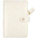 Webster's Pages - Color Crush A2 Faux Leather Personal Planner: Gold Dot Binder