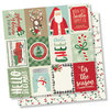 "Simple Stories - Merry & Bright: 3""x4"" Elements Paper 12""x12"""