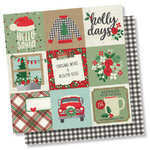 "Simple Stories - Merry & Bright: 4""x4"" Elements Paper 12""x12"""