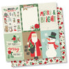 "Simple Stories - Merry & Bright: 4""X6"" Vertical Elements Paper 12""x12"""