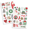 "Simple Stories - Merry & Bright: Puffy Stickers 4""x6"" (2 Blatt)"