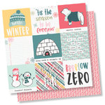 "Simple Stories - Freezin´ Season: 4""X4"" Elements Paper 12""x12"""