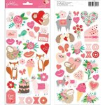 Pebbles - Loves Me: Accent Stickers (56 St.)