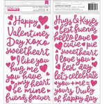 Thickers: Glitter Foam Phrase Stickers - Loves Me