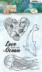 Studio Light - Clear Stamps: Ocean View - Qualle und Delphin